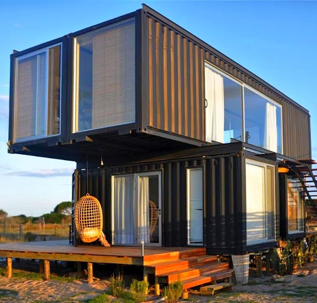 2x40 ft and 2x20 ft Shipping Container Home by Project Container, Uruguay 1
