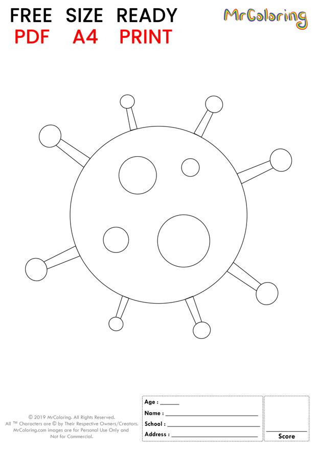 printable corona virus coloring pages flat 2
