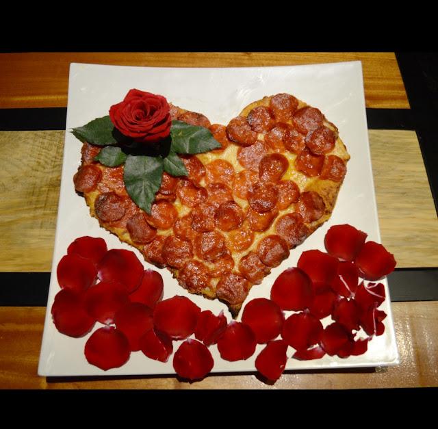 Una pizza en forma de... ¡Corazón!