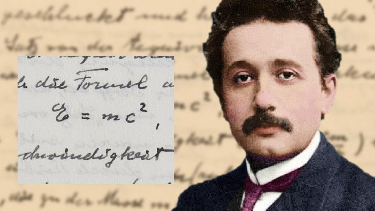 Einstein's handwritten letter with E=mc² fetches 1.2 million at auction