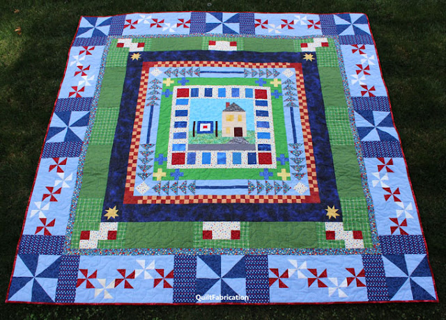 american dream quilt on the grass