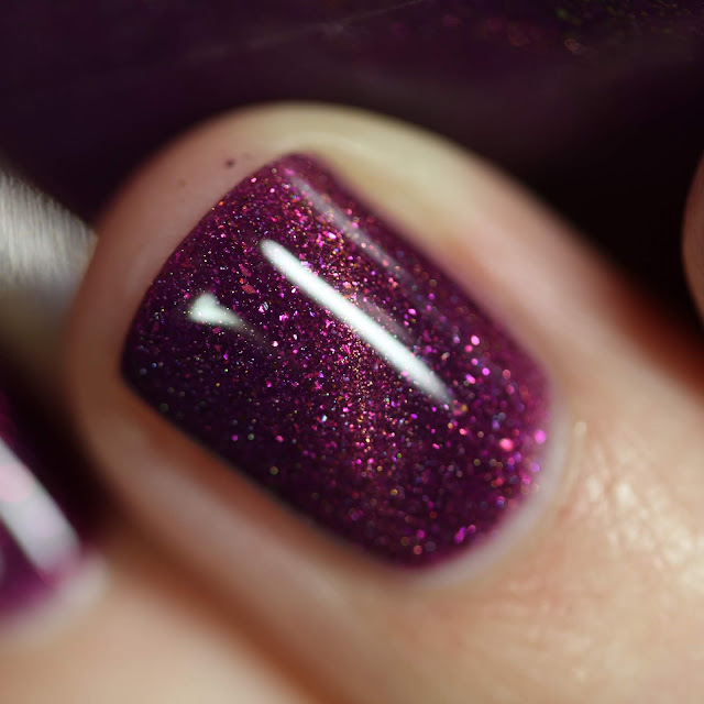 Paint It Pretty Polish Purple Rain PPU swatch thermal magnetic nail polish