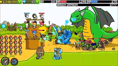 لعبة الاثارة و الاستراتيجية Grow Castle مهكرة للأندرويد