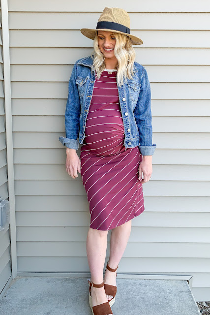 Fitted maternity dress for 3rd trimester