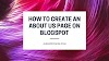 How To Create An About Us Page On Blogger/Blogspot To Build Credibility