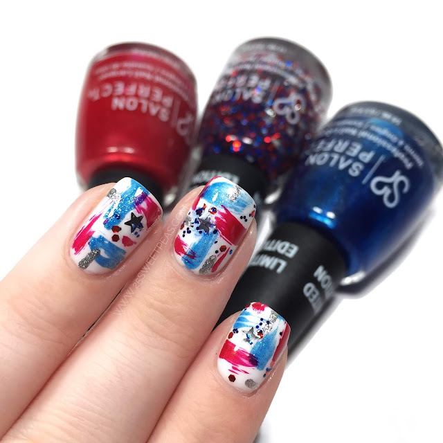 Abstract Fourth of July Nail Art
