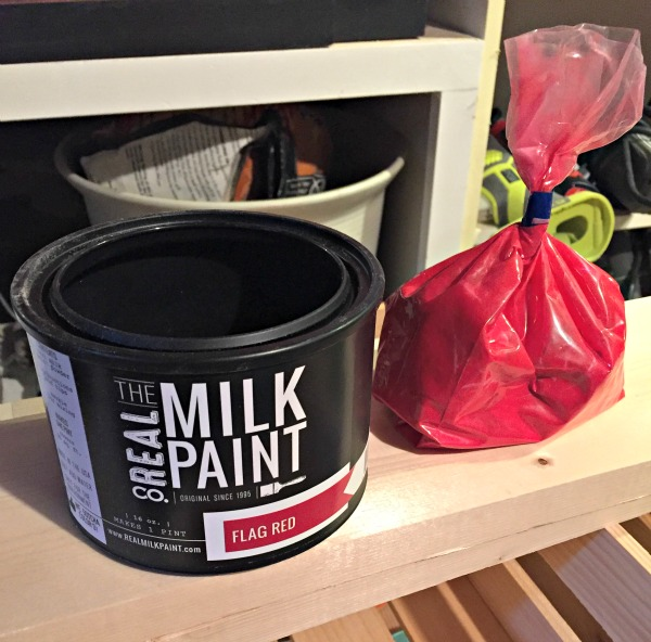 The Real Milk Paint Co. flag red