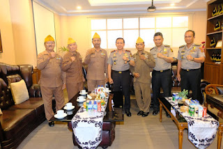 Kapolda Jambi Sambut Kunjungan Silaturahmi Pengurus DPP LVRI Provinsi Jambi