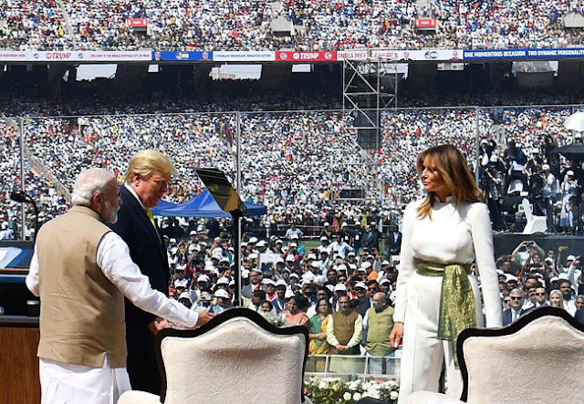 trump on pakistan,trump speech,namaste trump,donald trump motera stadium