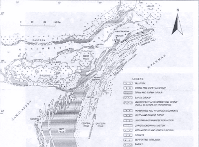 northeast India geological map