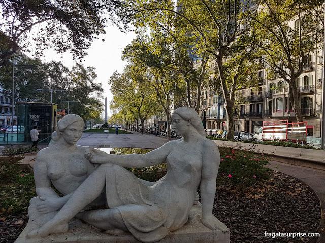Jardins de Salvador Espriu, na ponta Norte do Passeig de Gràcia, Barcelona