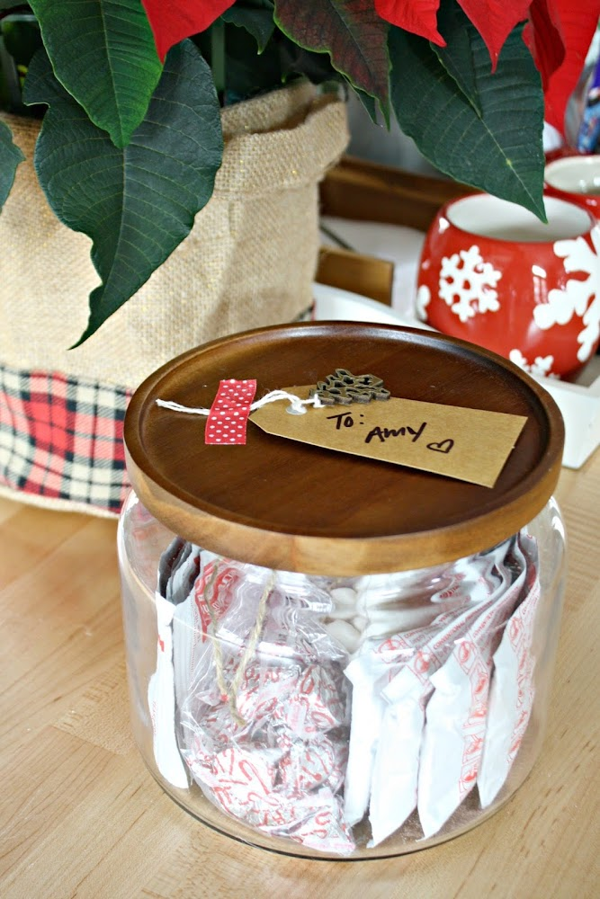 hot chocolate gift in jar