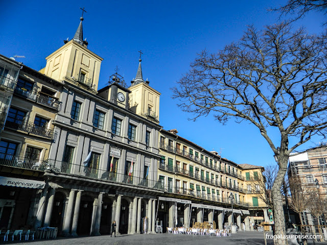 A sede do Ayuntamiento de Segóvia, na Plaza Mayor