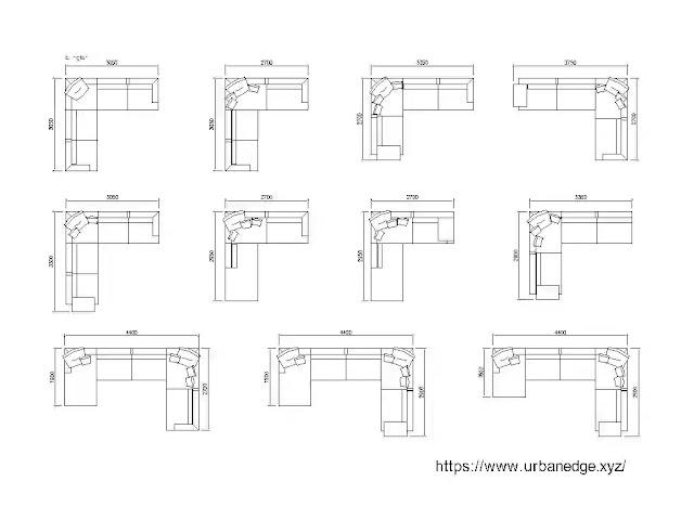 Sofas design cad blocks download, 10+ Sofa dwg cad blocks
