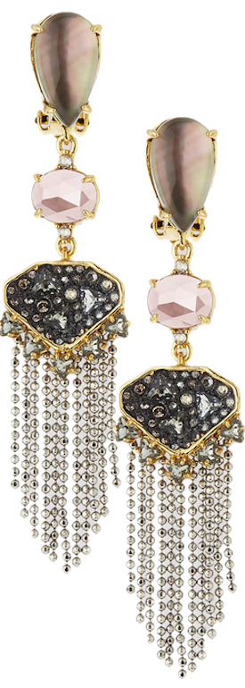 Alexis Bittar Tassel Chandelier Fringe Earrings