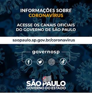 Governo de SP tem um canal de comunicação para esclarecer dúvidas sobre o Coronavírus