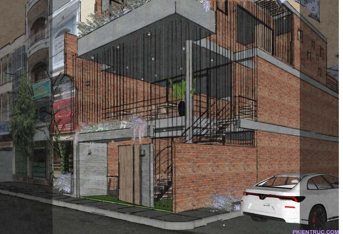 Model nhà phố phong cách thô mộc
