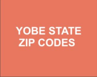Yobe State Postal Code: Full List Yobe State Zip Codes
