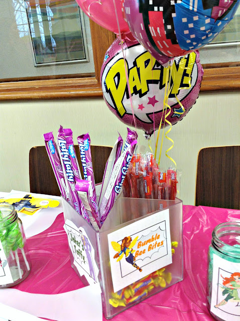 How to Host a Super Girl Birthday | Candy centerpiece
