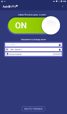 تطبيق  Astrill VPN لفتح المواقع المحجوبة للاندرويد