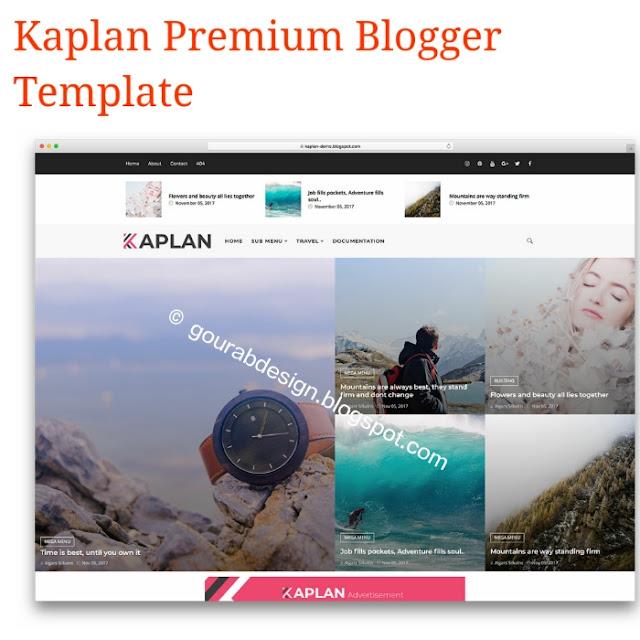 Kaplan responsive premium blogger template