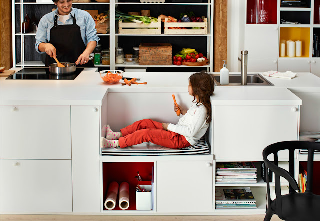 Kitchen Home Design : Maximize Space With Open Cabinet