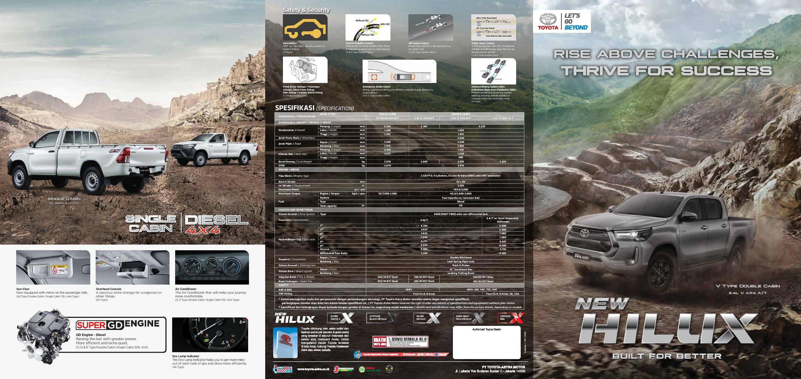 Brosur Toyota Hilux DC