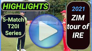 Ireland vs Zimbabwe T20I Series 2021