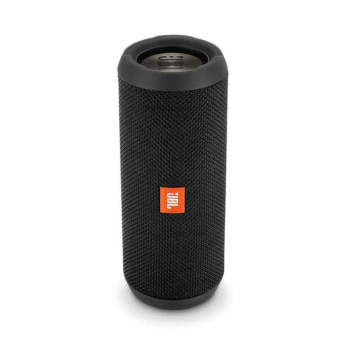 JBL Flip 3 Stealth Waterproof Portable Bluetooth Speaker with Rich Deep Bass (Black), Without Mic