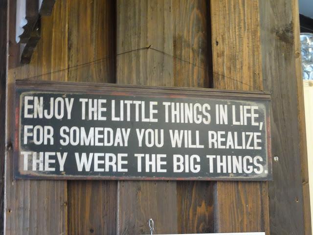 Aproveite as pequenas coisas da vida