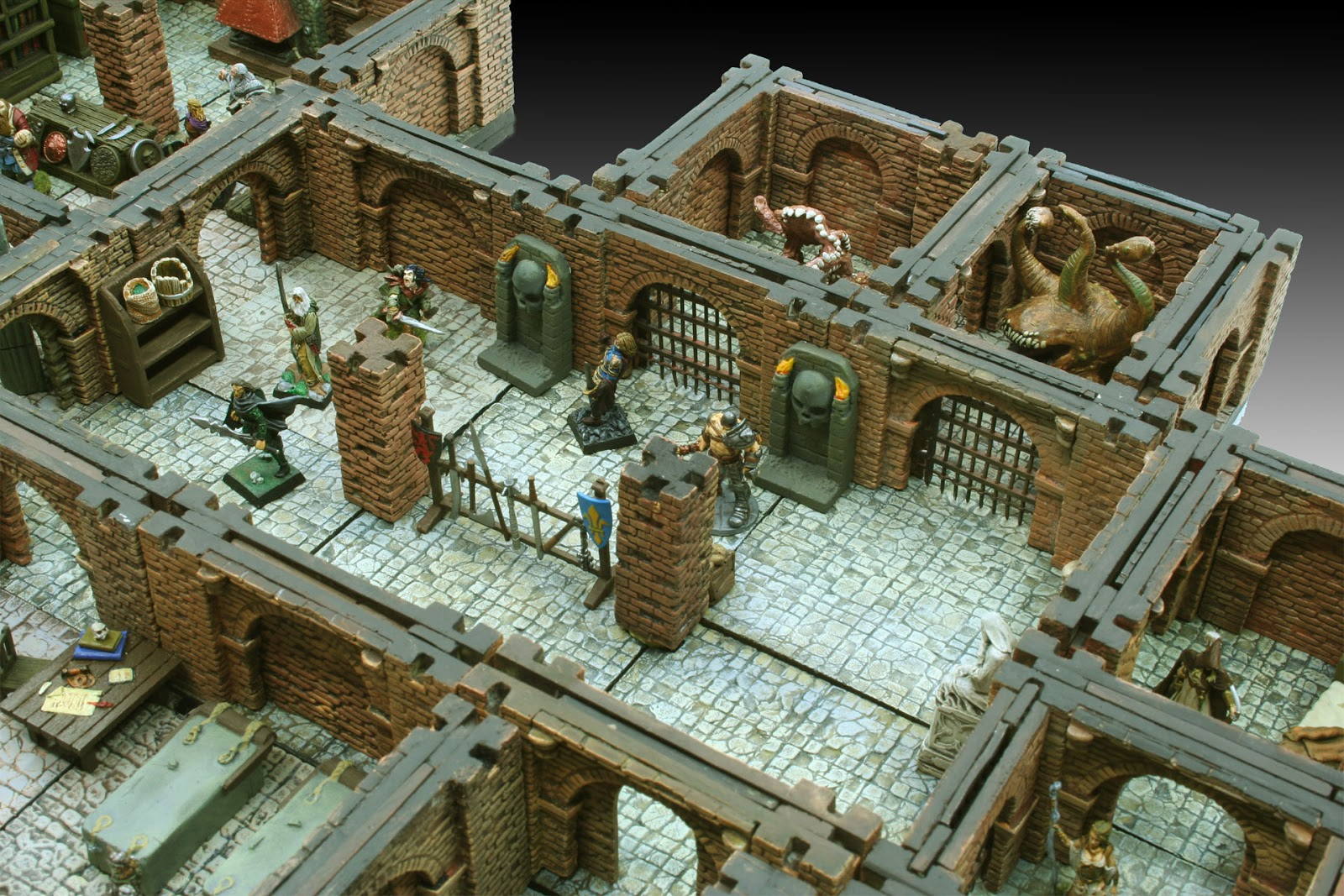Dramatic image within d&d printable terrain