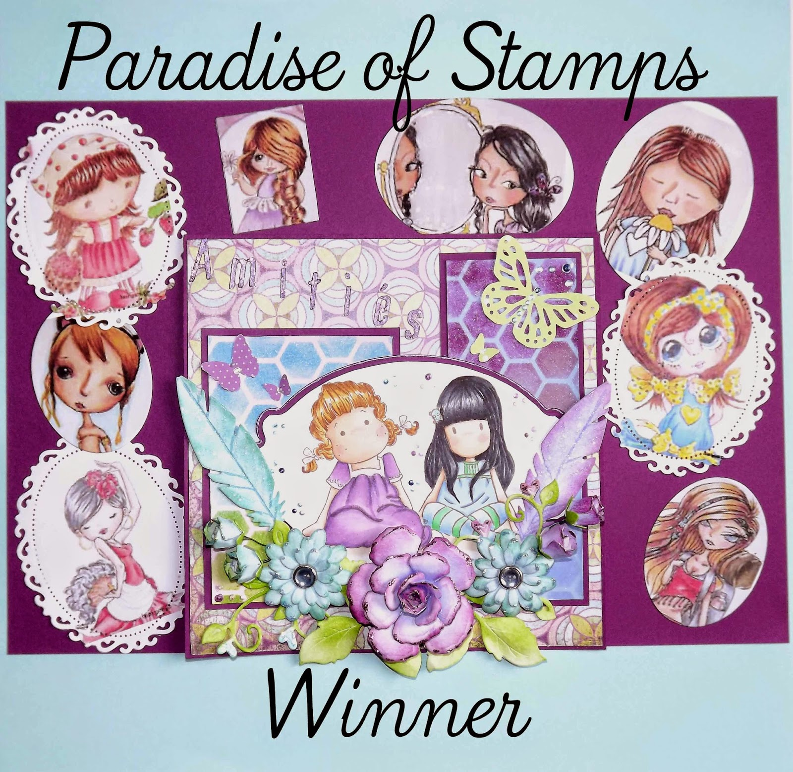 Paradise of Stamps Challenge #25 - School