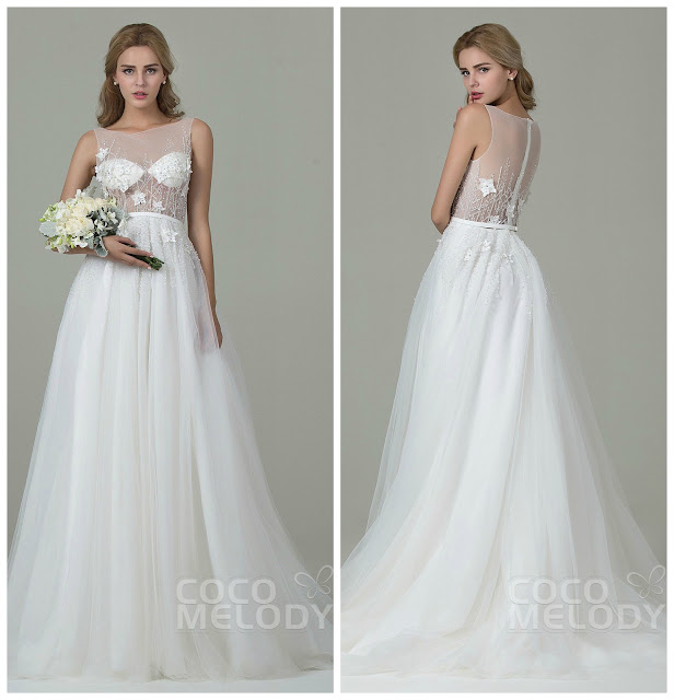 http://www.cocomelody.com/graceful-sheath-column-illusion-natural-train-tulle-ivory-sleeveless-zipper-wedding-dress-with-beading-and-appliques-cwxt15012.html