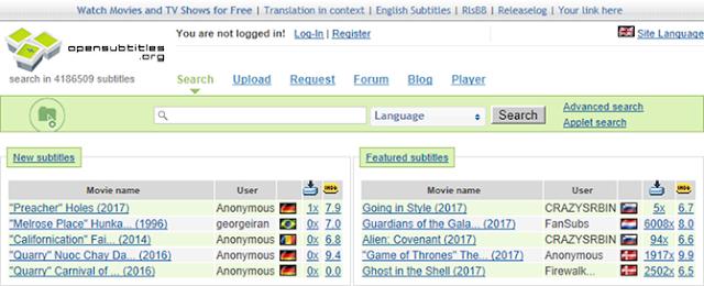 إليك أحسن المواقع لتنزيل ترجمة الأفلام مجانا. وأيضا شرح كيفية تفعيل الترجمة داخل مشغل الفيديو.