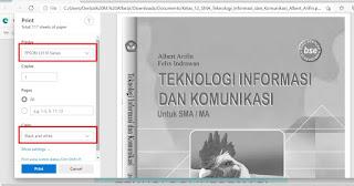 Cara Print Hitam Putih PDF Menggunakan Printer Epson