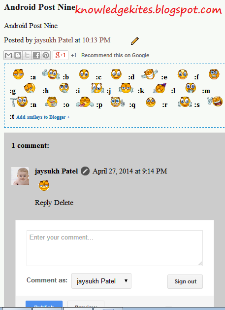 Add facebook smiley and emotions in blogger comment box