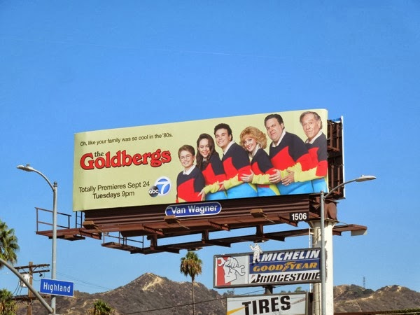 Goldbergs sitcom billboard