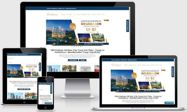 Templates blogspot bất động sản dự án GoldSeason