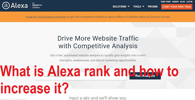 What is alexa rank and how to increase it?