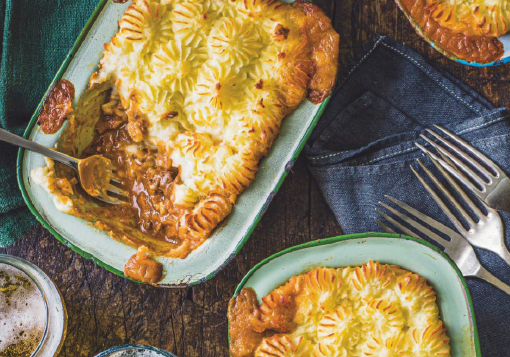 Rich cottage pies with cheesy mash