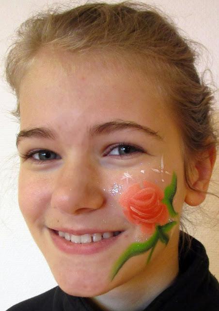 Blikfang ansigtsmaling Rose