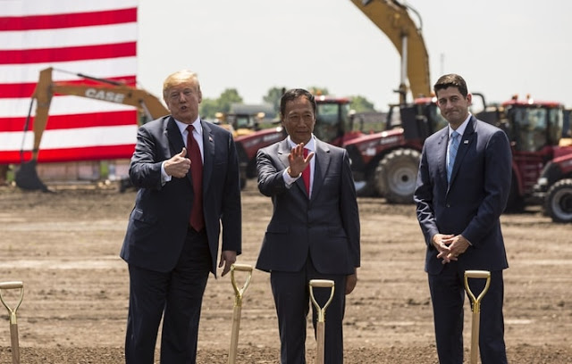 Inauguration of Foxconn factory development in US