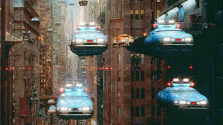 Flying cars from the 1997 film 'The Fifth Element'