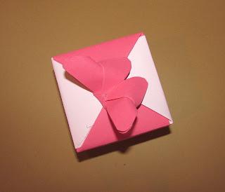 caixa origami borboleta
