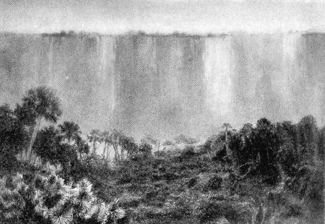 A 1912 photograph of Victoria Falls