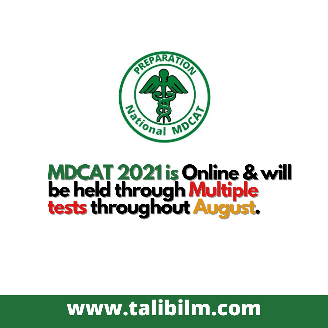 PMC National MDCAT 2021 Test Date