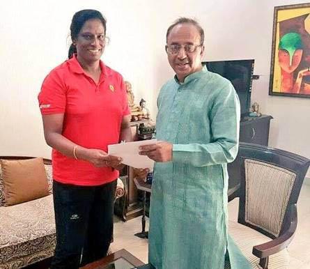 पीटी उषा ने केन्द्रीय खेल मंत्री से भेंट की