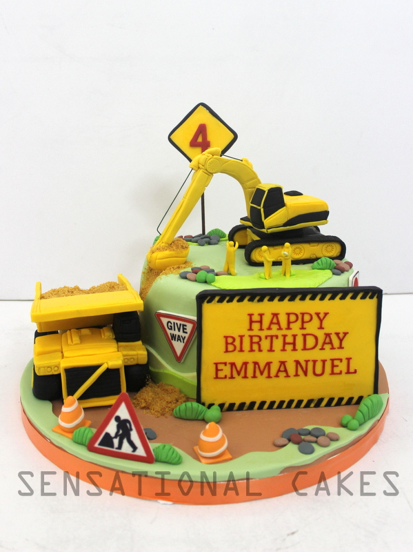 The Sensational Cakes CONSTRUCTION TRUCK 3D BESPOKE CAKE