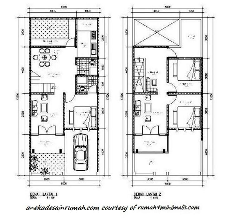 gambar denah rumah lantai 2 ideal 1
