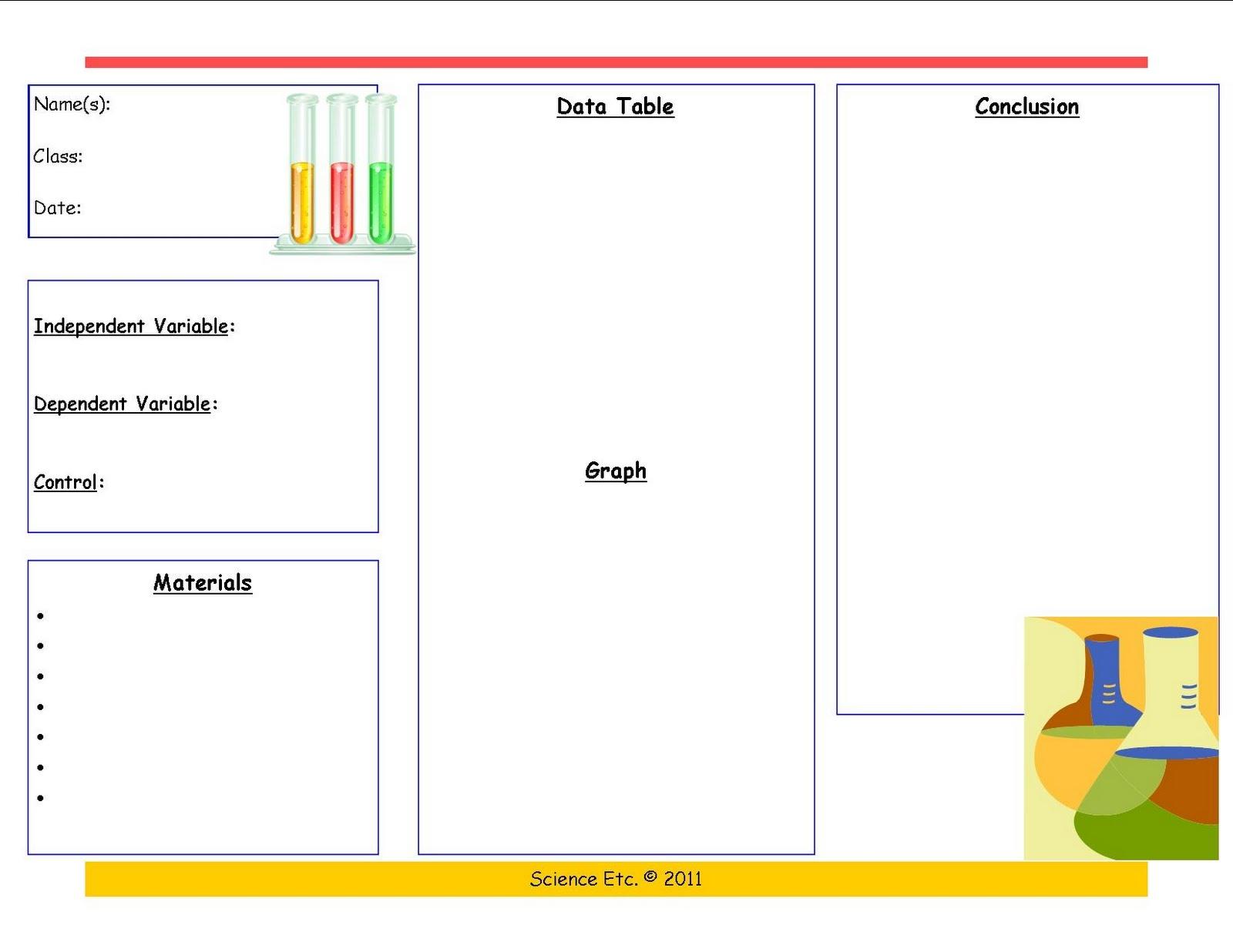 Science Etc.: Scientific Method Template